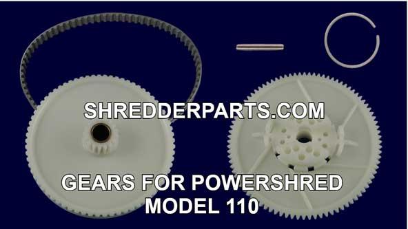 Gears for Powershred Model 110 Paper Shredder