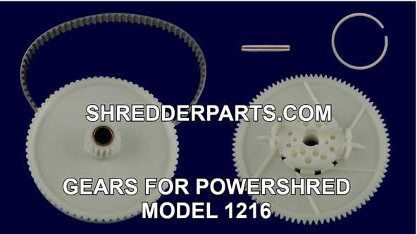 Gears For Powershred Model 1216 Paper Shredder