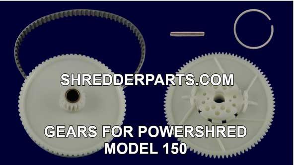 Gears for Powershred Model 150 Paper Shredder