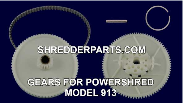 Gears For Powershred Model 913 Paper Shredder
